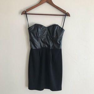 CHARLOTTE RUSSE strapless black dress size S